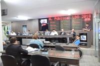 Vereadores discutem Lei de Diretrizes Orçamentárias do Municipío