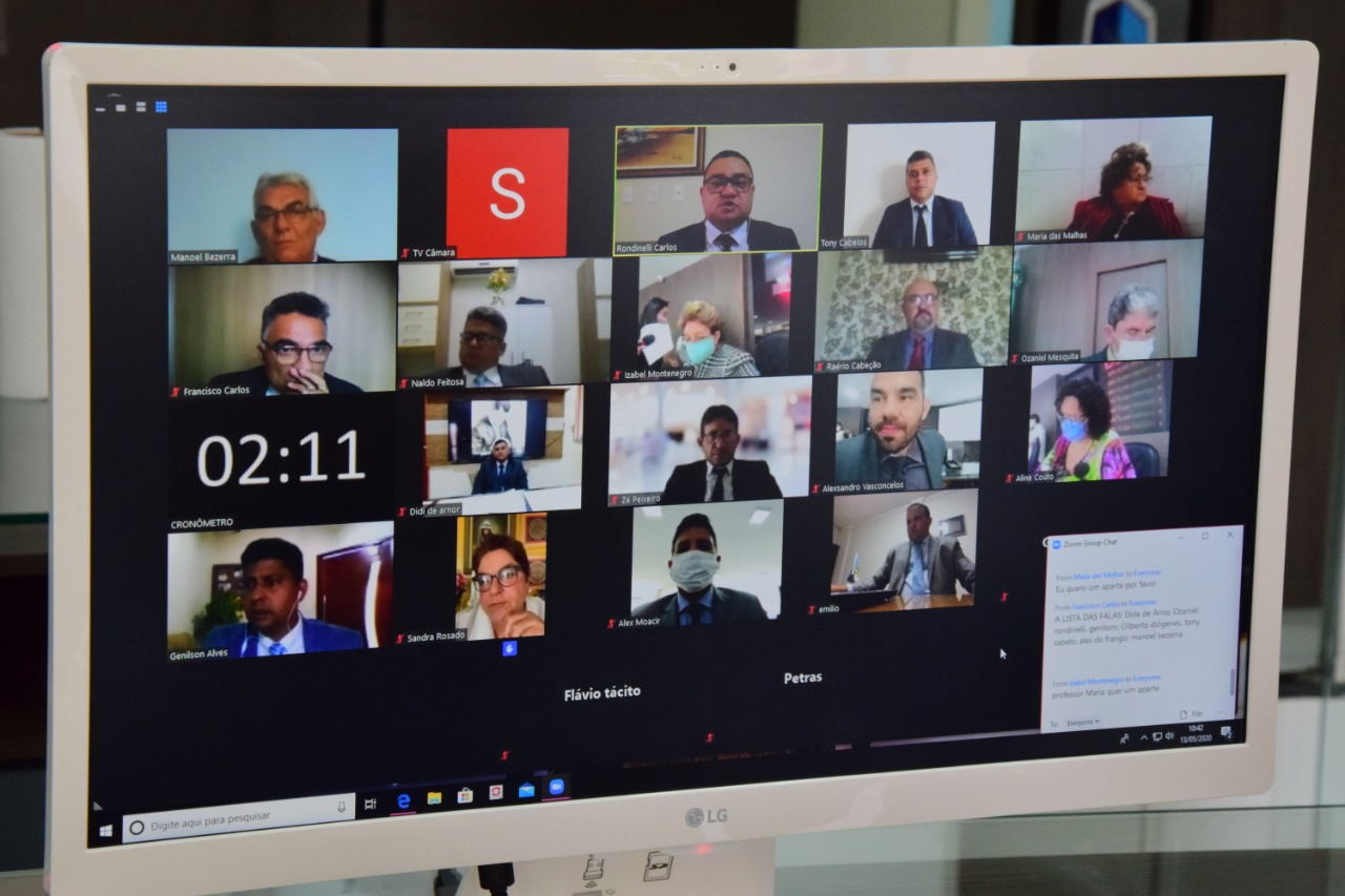 Câmara analisa mais de 100 matérias em sessão remota