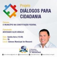 Câmara realiza terceira palestra do projeto Diálogos para Cidadania