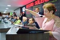 Izabel Montenegro conclama união em discurso; confira íntegra