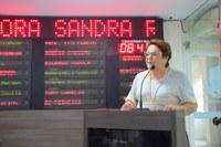 Sandra aborda importância do Cidade Junina e cobra retomada do Hospital da Mulher