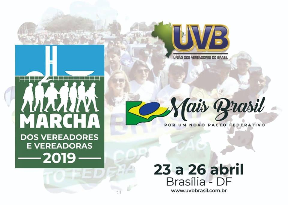 Vereadores participam de Marcha nacional em Brasília